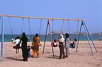 Vereinigte arabische Emirate (VAE, UAE), Fujairah, am Strand von Khor Fakkan