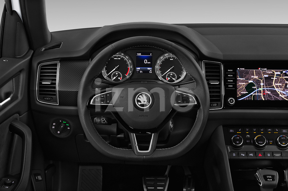 Car pictures of steering wheel view of a 2019 Skoda Kodiaq Sportline 5 Door SUV Steering Wheel