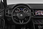 Car pictures of steering wheel view of a 2019 Skoda Kodiaq Sportline 5 Door SUV Steering Wheel