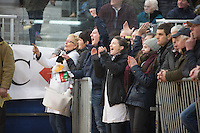 Exhibitors celebrate a win at the Welsh Winter Fair 2016 <br /> Picture Tim Scrivener 07850 303986<br /> ….covering agriculture in the UK….