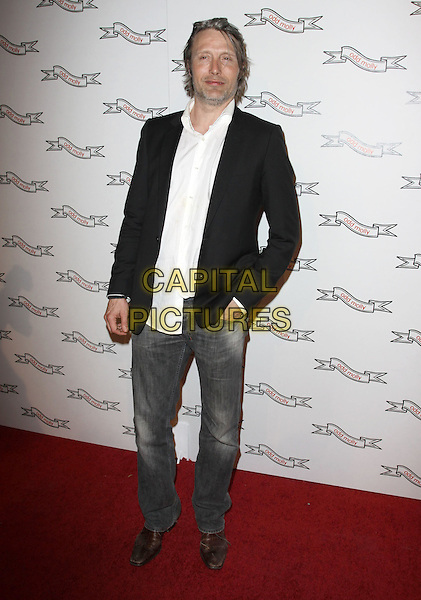 MADS MIKKELSEN.Odd Molly Flagship Store Opening held At Odd Molly Boutique, Beverly Hills, California, USA, 19th March 2010..full length black jacket white shirt jeans hand in pocket .CAP/ADM/KB.©Kevan Brooks/AdMedia/Capital Pictures.