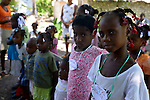 DUFAILLY, HAITI - SEPTEMBER 26: Team Fleur De Vie Back to School  Make An Impact Trip to Yes We Can Progress School in Dufailly Mirebalais on Friday September 26, 2014 in Dufailly, Haiti  (Photo by Johnny Louis/jlnphotography.com)