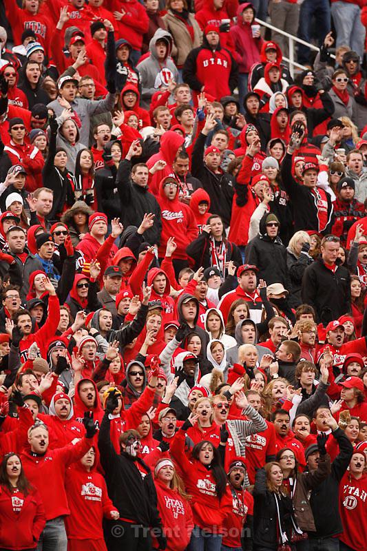 Trent Nelson  |  The Salt Lake Tribune.Utah fans in the MUSS during the second quarter, Utah vs. Colorado, college football at Rice-Eccles Stadium in Salt Lake City, Utah, Friday, November 25, 2011