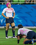 China plays Japan during the17th Asian Games 2014 Rugby Womens Sevens tournament on October 02, 2014 at the Namdong Asiad Rugby Field in Incheon, South Korea. Photo by Alan Siu / Power Sport Images