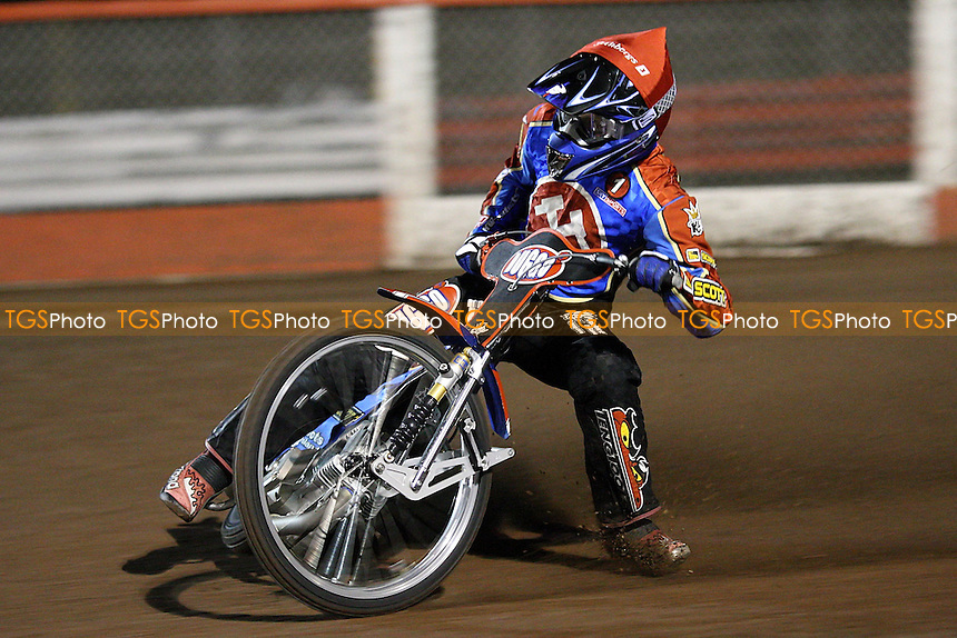 Heat 1: Andreas Jonsson of Lakeside equals the track record - Lakeside Hammers vs Peterborough Panthers - Craven Shield Speedway at Arena Essex - 28/03/08 - MANDATORY CREDIT: Gavin Ellis/TGSPHOTO. Self-Billing applies where appropriate. NO UNPAID USE. Tel: 0845 094 6026