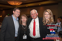 Forrest Schock, Roberta Licklider, Dennis Licklider, and Leslie Farmer pose for a photo after the 2013 Missouri Sports Hall of Fame Induction Ceremony where the Jefferson City High School Track and Field Program was inducted, Sunday, January 27, 2013, in Springfield, MO.