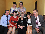 Olive Gallagher from Slane celebrating her 80th birthday in the Star and Crescent with sons Tony and Sean, daughters Ellen and Annette and grandaughters Rebecca and Donna. Photo: Colin Bell/pressphotos.ie