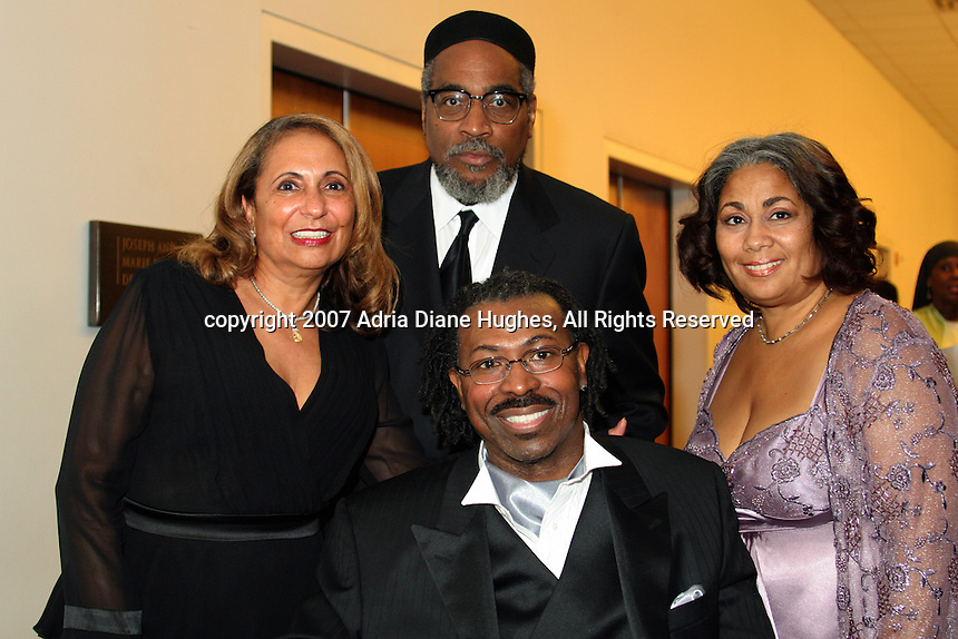 Cathy Hughes, Kenny Gamble, Teddy Pendergrass and Dyana Williams backstage at the 25TH Anniversary Celebration in Philadelphia, PA, Kimmel Center.