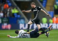 Bolton Wanderers' Adam Le Fondre is brought down by Leeds United's Eunan O'Kane <br /> <br /> Photographer Andrew Kearns/CameraSport<br /> <br /> The EFL Sky Bet Championship - Bolton Wanderers v Leeds United - Sunday 6th August 2017 - Macron Stadium - Bolton<br /> <br /> World Copyright &copy; 2017 CameraSport. All rights reserved. 43 Linden Ave. Countesthorpe. Leicester. England. LE8 5PG - Tel: +44 (0) 116 277 4147 - admin@camerasport.com - www.camerasport.com