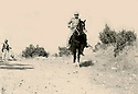 Iraq 1962.In Qara Dagh, sheikh Mohamed Kasnazani on an horse