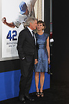 "Harrison Ford, Calista Flockhart. Los Angeles premiere of Warner Bros. Pictures' and Legendary Pictures' ""42,"" at TCL Chinese Theater. Hollywood, CA USA. April 9, 2013.©CelphImage"