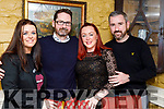 Rebecca Ryan Griffin, Joe Griffin, Deirdre Ferris and Conor Foley, enjoying a night out at the Brogue Inn, Tralee on Saturday night last.