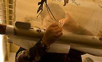 Silk embroidery artists at work, Suzhou Embroidery Research Institute, Huanxiu Mountain Villa, Suzhou, China