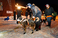 Joar Leifseth Ulsom gets ready to leave the Takotna checkpoint from his 24-hour layover during the 2019 Iditarod on Wednesday, March 6th 2019.<br /> <br /> Photo by Jeff Schultz/  (C) 2019  ALL RIGHTS RESERVED