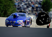Jul, 21, 2012; Morrison, CO, USA: NHRA pro stock driver Kurt Johnson during qualifying for the Mile High Nationals at Bandimere Speedway. Mandatory Credit: Mark J. Rebilas-