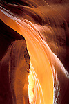 Sunlight on water carved sandstone slot canyon, Upper Antelope Canyon, Navajo Nation, near Page, Arizona