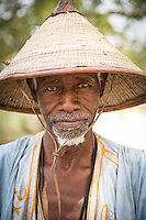 Elderly Fulani tribesman at Tambacounda, Senegal