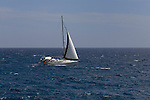 Yacht sailing of the Tenerife coast. Tenerife canary islands,spain