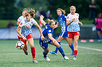 Boston, MA - Friday July 07, 2017: Kathleen Naughton and Natasha Dowie during a regular season National Women's Soccer League (NWSL) match between the Boston Breakers and the Chicago Red Stars at Jordan Field.