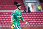 S&ouml;dert&auml;lje 2014-05-31 Fotboll Superettan Syrianska FC - &Auml;ngelholms FF :  <br /> &Auml;ngelholms m&aring;lvakt Matt Pyzdrowski med ett skydd f&ouml;r huvudet<br /> (Foto: Kenta J&ouml;nsson) Nyckelord:  Syrianska SFC S&ouml;dert&auml;lje Fotbollsarena &Auml;ngelholm &Auml;FF portr&auml;tt portrait skydd huvudskydd huvud