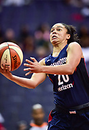 Washington, DC - June 15, 2018: Washington Mystics guard Kristi Toliver (20) goes up for a lay up during game between the Washington Mystics and Chicago Sky at the Capital One Arena in Washington, DC. (Photo by Phil Peters/Media Images International)