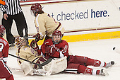 Corinne Boyles (BC - 29), Kaitlin Spurling (Harvard - 17), Dru Burns (BC - 7) - The Boston College Eagles defeated the visiting Harvard University Crimson 3-1 in their NCAA quarterfinal matchup on Saturday, March 16, 2013, at Kelley Rink in Conte Forum in Chestnut Hill, Massachusetts.