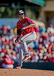 29 February 2020: Washington Nationals pitcher Kyle McGowin on the mound during a Spring Training game against the St. Louis Cardinals at Roger Dean Stadium in Jupiter, Florida. The Cardinals defeated the Nationals 6-3 in Grapefruit League play. Mandatory Credit: Ed Wolfstein Photo *** RAW (NEF) Image File Available ***