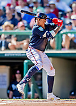 25 February 2019: Atlanta Braves infielder Johan Camargo at bat during a pre-season Spring Training game against the Washington Nationals at Champion Stadium in the ESPN Wide World of Sports Complex in Kissimmee, Florida. The Braves defeated the Nationals 9-4 in Grapefruit League play in what will be their last season at the Disney / ESPN Wide World of Sports complex. Mandatory Credit: Ed Wolfstein Photo *** RAW (NEF) Image File Available ***