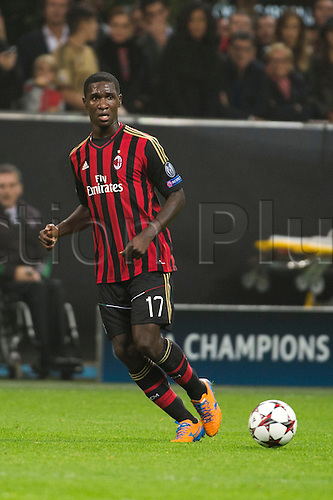 22.10.l2013. Milan, Italy. UEFA Champions League football. AC Milan versus FC Barcelona. Group stages. Cristian Zapata (Milan),  at Stadio Giuseppe Meazza in Milan, Italy.