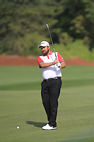 Shane Lowry (IRL) on the 10th fairway during the preview for the DP World Tour Championship at the Earth course,  Jumeirah Golf Estates in Dubai, UAE,  18/11/2015.<br /> Picture: Golffile | Thos Caffrey<br /> <br /> All photo usage must carry mandatory copyright credit (© Golffile | Thos Caffrey)