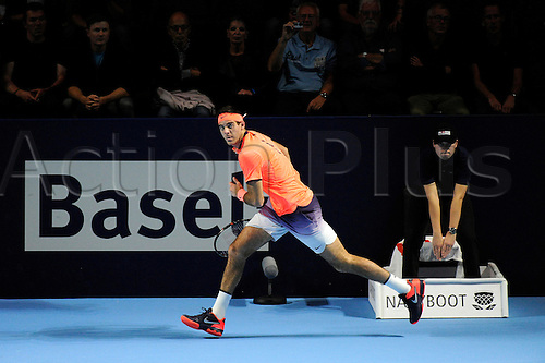 27.10.2016.  St. Jakobshalle, Basel, Switzerland. Basel Swiss Indoors Tennis Championships. Day 4. Juan Martin Del Potro in action in the match between Juan Martin Del Potro of Argentina and David Goffin of Belgium