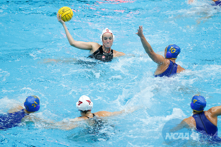 INDIANAPOLIS, IN - MAY 14: General view as Makenzie Fischer (11) of Stanford University looks to shoot during the Division I Women's Water Polo Championship against UCLA held at the IU Natatorium-IUPUI Campus on May 14, 2017 in Indianapolis, Indiana. (Photo by Joe Robbins/NCAA Photos/NCAA Photos via Getty Images)