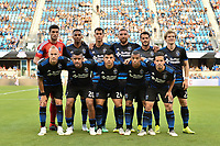 San Jose, CA - Saturday August 18, 2018: San Jose Earthquakes Starting Eleven during a Major League Soccer (MLS) match between the San Jose Earthquakes and Toronto FC at Avaya Stadium.