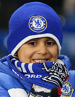 A young Chelsea fan<br /> <br /> Photographer Rob Newell/CameraSport<br /> <br /> The Emirates FA Cup Fifth Round - Chelsea v Liverpool - Tuesday 3rd March 2020 - Stamford Bridge - London<br />  <br /> World Copyright © 2020 CameraSport. All rights reserved. 43 Linden Ave. Countesthorpe. Leicester. England. LE8 5PG - Tel: +44 (0) 116 277 4147 - admin@camerasport.com - www.camerasport.com