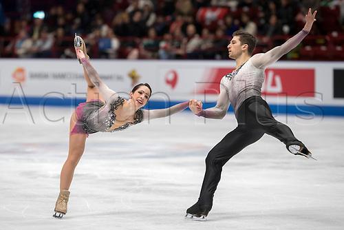21st March 2018, Milan, Italy; ISU World Figure Skating Championships Milano 2018;  NICOLE DALLA MONICA and MATTEO GUARISE