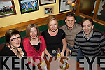 Countdown: waiting for 12 bells in Craineen's Bar Cahersiveen were l-r; Bridget Fitzgerald, Michelle Daly, Eugenie Gillespie, Andrew Gillespie & Connor Daly.