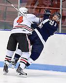 Dan Cornell (Northeastern - 4), Brett Frazee (StFX - 23) - The visiting St. Francis Xavier University X-Men defeated the Northeastern University Huskies 8-5 on Sunday, October 2, 2011, at Matthews Arena in Boston, Massachusetts.
