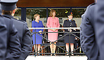 10/09/2015<br /> Minister for Justice and Equality Frances Fitzgerald TD, An Tanaiste Joan Burton TD and Garda Commissioner Noirin O'Sullivan pictured at the Garda Graduation Ceremony at the Garda College, Templemore, Co. Tipperary.<br /> Pic: Press 22