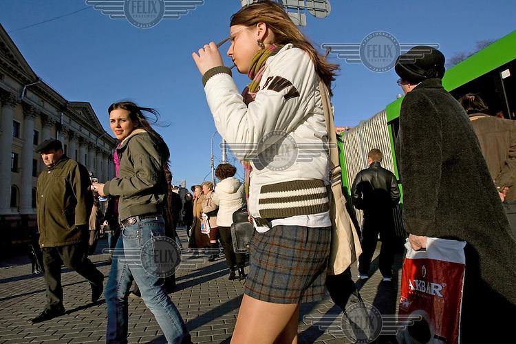 Young women in Minsk.