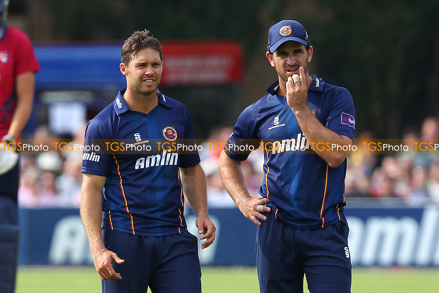 Ryan ten Doeschate (R) and Greg Smith of Essex - Essex Eagles vs Kent Spitfires - NatWest T20 Blast Cricket at Castle Park, Colchester, Essex - 12/07/14 - MANDATORY CREDIT: Gavin Ellis/TGSPHOTO - Self billing applies where appropriate - contact@tgsphoto.co.uk - NO UNPAID USE