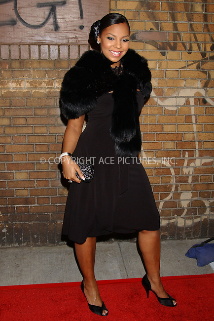 WWW.ACEPIXS.COM....March 14 2006, New York City....Ashanti attends a party to celebrate Montblanc's 100th Anniversary at The Newspace in Manhattan.......Byline:  KRISTIN CALLAHAN - ACEPIXS.COM....For information please contact:....Philip Vaughan, 212 243 8787 or 646 769 0430..Email: info@acepixs.com..Web: WWW.ACEPIXS.COM