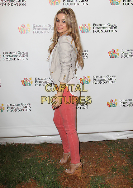 Carmen Electra.Elizabeth Glaser Pediatric AIDS Foundation's 23rd Annual 'A Time For Heroes' Celebrity Picnic held at The Wadsworth Theater, Los Angeles, California, USA..3rd June 2012.full length top white jeans denim beige blazer jacket side .CAP/ADM/FS.©Faye Sadou/AdMedia/Capital Pictures.