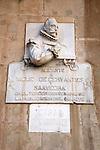 Cervantes Monument in the Plaza del Ayuntamiento Square; Alicante