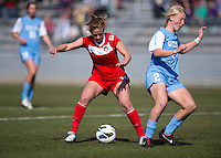 Caroline Miller, Caitlin Ball. The Washington Spirit defeated the North Carolina Tar Heels in a preseason exhibition, 2-0, at the Maryland SoccerPlex in Boyds, MD.