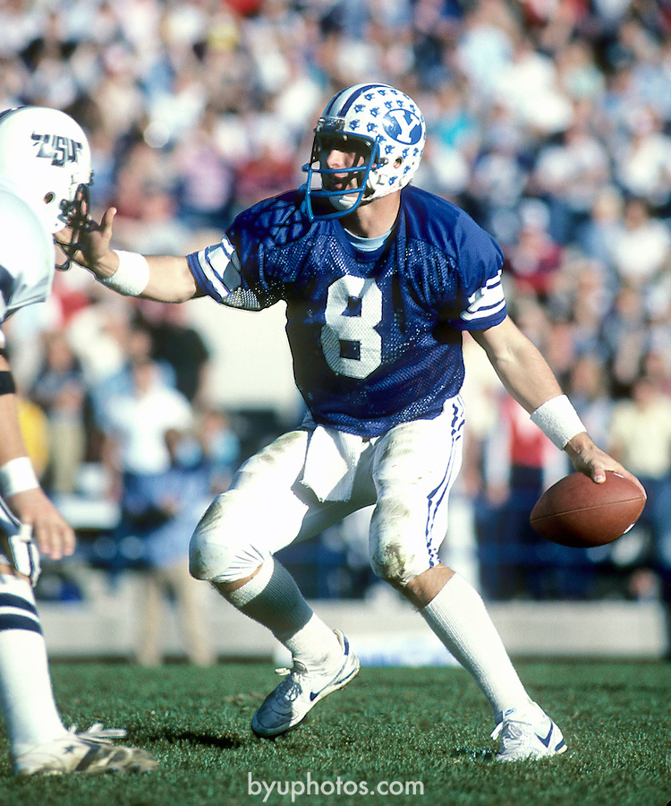 Young nov 83<br /> <br /> 8 Steve Young<br /> <br /> Photo by: Mark Philbrick/BYU<br /> &copy; BYU PHOTO 2010<br /> All Rights Reserved<br /> photo@byu.edu  (801)422-7322