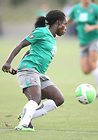 Eniola Aluka #9 of Abby's XI during the WPS All-Star game against Marta's XI at the KSU Stadium in Kennesaw, Georgia on June 30 2010. Marta XI won 5-2.