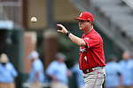 CHAPEL HILL, NC - FEBRUARY 21: Saint John's head coach Ed Blankmeyer during pregame fielding practice. The University of North Carolina Tar heels hosted the Saint John's University Red Storm on February 21, 2018, at Boshamer Stadium in Chapel Hill, NC in a Division I College Baseball game. St John's won the game 5-2.