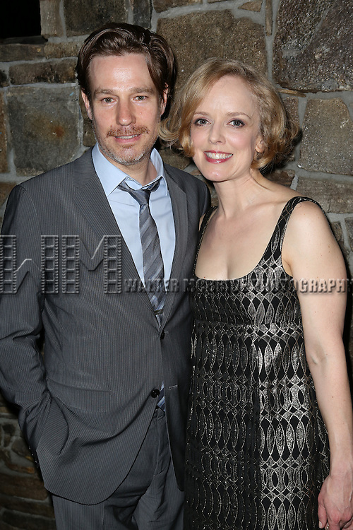 Ethan McSweent and Nancy Anderson attending the Opening After Party for the Playwrights Horizons World Premiere production of the new musical 'FAR FROM HEAVEN' at Tir Na Nog Irish Pub & Grill  in New York City on June 02, 2013.