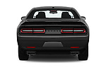 Straight rear view of a 2019 Dodge challenger SXT 2 Door Coupe stock images