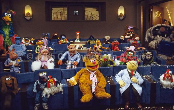 Cast of The Muppet Movie, CBS studios, Los Angeles, 1978. Photo by John G. Zimmerman.